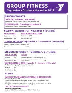 Mon Valley YMCA | September, October & November